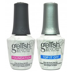 Gelish soak - off gel polish / TOP & BASE