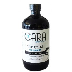 CARA Gel Top Coat (No Cleanse) - 8oz + Free 0.5oz