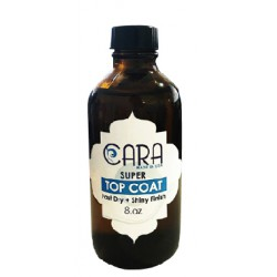 CARA SUPER Top Coat 8oz - for nail lacquer