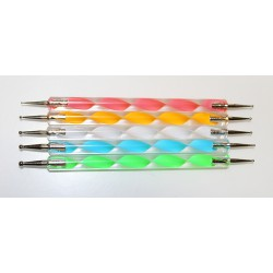 Nail Design Dotting Tools - 5 pcs (multicolor)