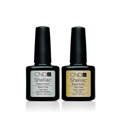 CND Shellac - C499 & C500 - Top Coat 0.5oz & Base Coat 0.42oz