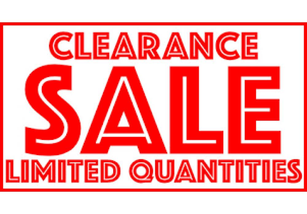 CLEAR STOCK - Final Sale, No Return, No Exchange