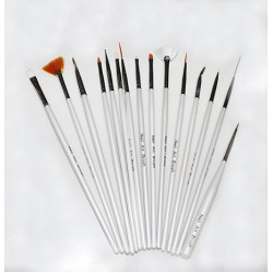 Nail Art Brush 15pcs (White)