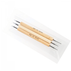 Nail Design Dotting Tools - 3pcs (wood)