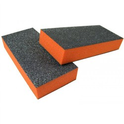 2 Sides Slim Buffer - Black/Orange (500pcs/box)