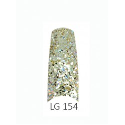 BE QUEEN Large Glitter Nail Tips - LG 154