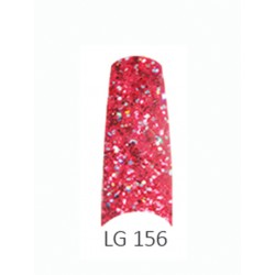 BE QUEEN Large Glitter Nail Tips - LG 156